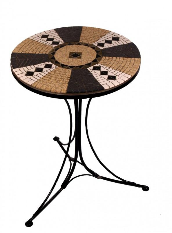 Mozaïek Bijzettafeltje Round Table
