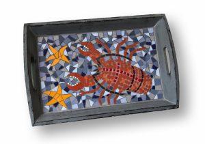 Mozaiek Dienblad Kreeft
