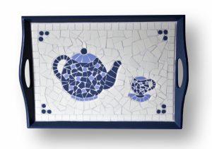 Mozaiek Dienblad Theepot