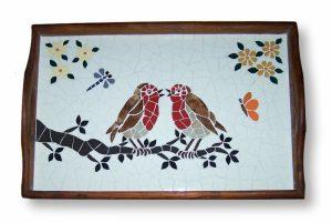 Mozaiek Dienblad Vogels