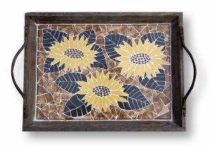 Mozaiek Dienblad Zonnebloem
