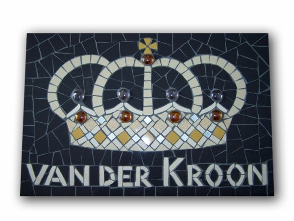 Mozaiek Naambord / Deurbordje