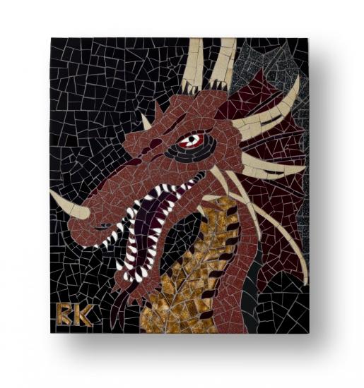 Mozaïek Schilderij Draak