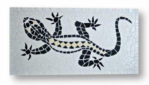 Mozaïek Schilderij Salamander