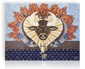 Mozaiek Schilderij Sterrenbeelden (Stier en Vissen)
