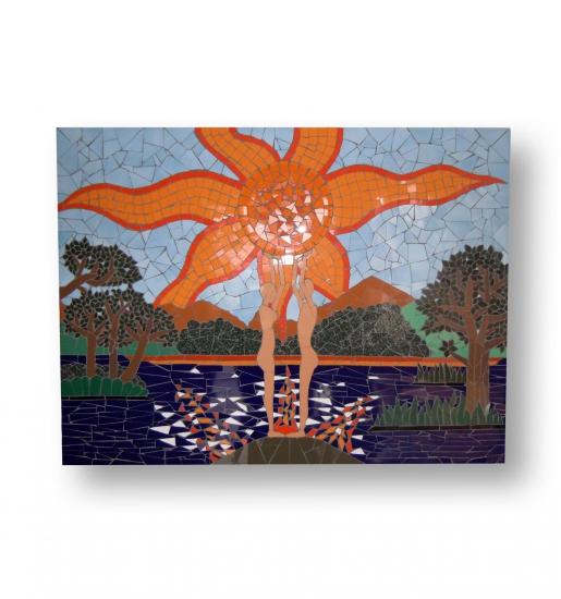 Mozaïek Schilderij Zonsondergang