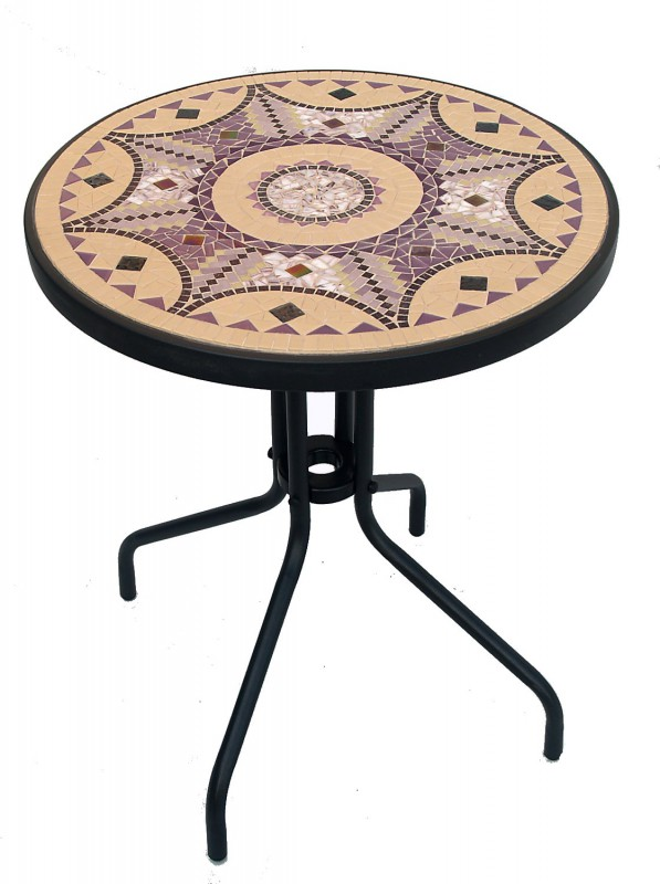Mozaïek Tafel Purple Octogram