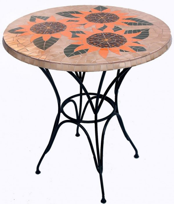 Mozaïek Tafel Triple Sunflower