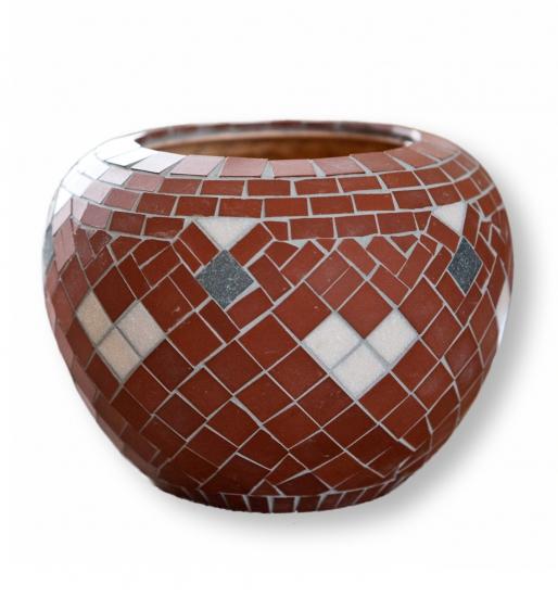 Mozaiek Vaas Rood