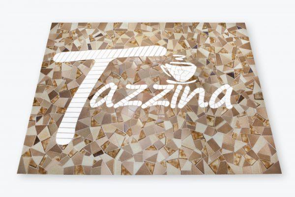 "Mozaiek Bedrijfslogo Tazzina"""""