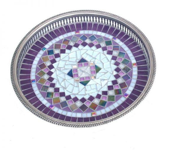 Mozaïek Dienblad Purple Silver