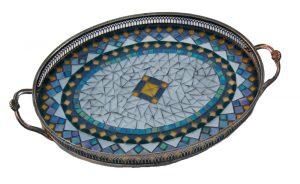 Antiek dienblad mozaiek